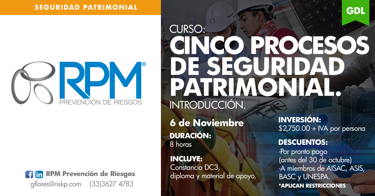 CINCO PROCESOS DE SEGURIDAD PATRIMONIAL