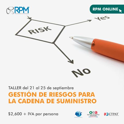 taller gestión riesgos cadena suministro